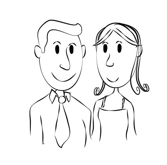 Desenhos De Noivinhos Para Convites De Casamento 85