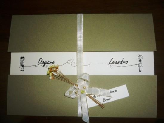 Convite de casamento feito em casa: Dayane e Leandro 24