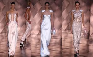 Desfile de vestidos de noiva de Reinaldo Lourenço na SPFW Verão 2012