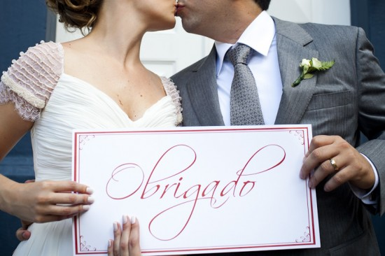 Casamento: Agradecimento dos noivos. Foto: Fernanda Sharon
