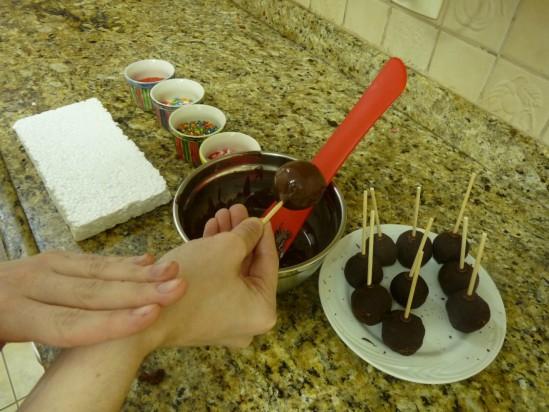 Receita de cakepop ou pirulibolo ou bolo no palito