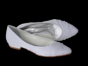 Calçados de noiva: sapatilha de noiva branca da Durval Calçados