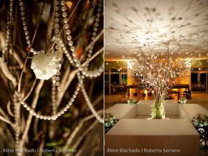 Casamento: árvore francesa decorada com pérolas. Foto: Aline Machado | Roberta Serrano.