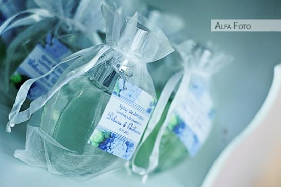 Lembrancinha de casamento: aromatizador de ambientes. Foto: Alfa Foto.