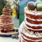 Bolo rústico de casamento com maçã e nozes. Foto: Julie Roberts.