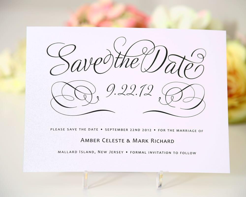 Save the date com caligrafia delicado e chique for Save the date wedding