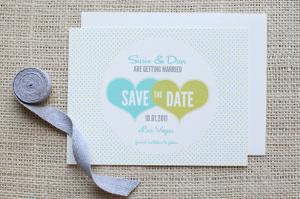 Modelo de convite de casamento save-the-date do site Wedding Chicks.