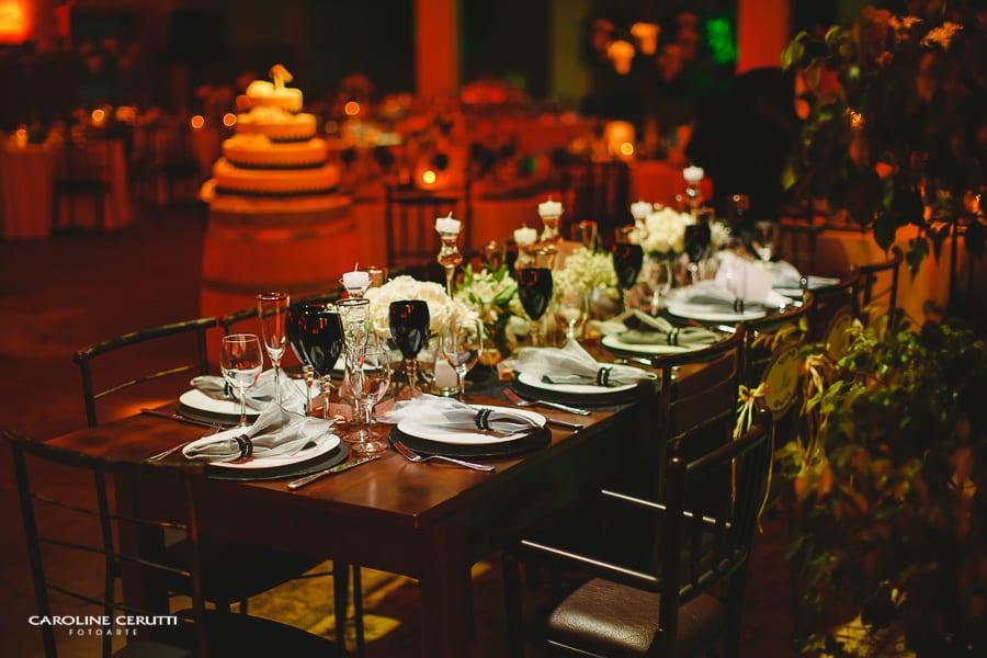 Casamento na vinícola Pierini em Caxias do Sul: decoração da festa. Foto: Caroline Cerutti.