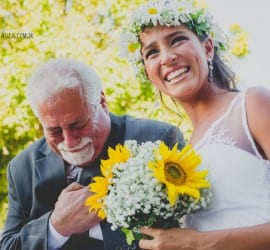 Casamento no campo: entrada da noiva. Foto: Clique Pausa.
