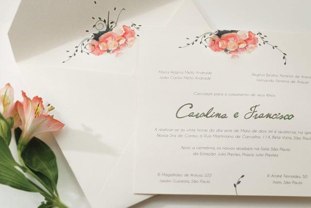 Os Convites De Casamento Em Aquarela Da Bia Coutinho