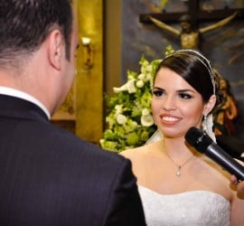 Votos de casamento tradicional. Foto: Patricia e Márcio Fotografia.