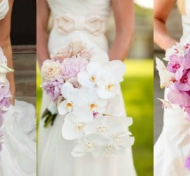 Fotos de buquês de noiva em cascata.