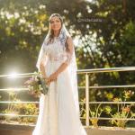 Vestido de noiva de Marcella, noiva de Mateus. Casamento Mateus e Marcella (da dupla Jorge e Mateus). Fotos: Michel Castro.