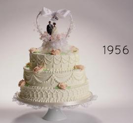 Bolo de casamento dos anos 50.