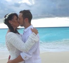 Destination wedding: casamento a dois em Cancun, no Caribe.